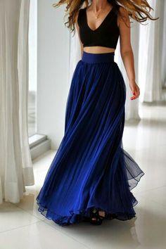 Hig waist long skirt