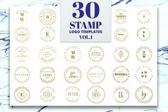 Stamp Premade Logo Templates Templates ***I am happy to present you our new First Volume of the Stamp Logo Pack created for those who are l by IsikChic Branding Kit, Branding Design, Logo Design, Business Illustration, Pencil Illustration, Graphic Design Templates, Logo Templates, Business Brochure, Business Card Logo