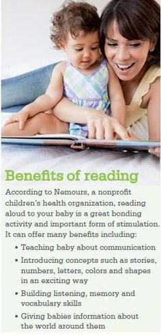 4 benefits of reading aloud to your #baby. #parenting