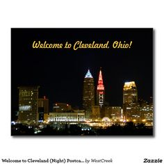Welcome to Cleveland (Night) Postcard SOLD 50 copies, TY to the Ohio buyer!