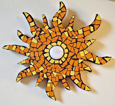 Mosaic Sun Bohemian Art Hippie Decor Mosaic by earthmothermosaics