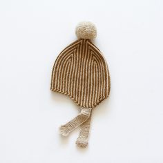 Hand-Knit Merino Wool Divna Hat - Ginger - 0m-5y – MamaOwl