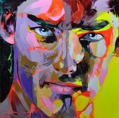 Palette knife painting portrait Palette knife Face Oil painting Impasto figure on canvas Hand painted Francoise Nielly 15 Abstract Portrait, Oil Painting Abstract, Portrait Art, Oil Paintings, Arte Pop, Palette Knife Painting, Colorful Paintings, Art Design, Pop Art