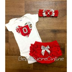 Ohio State Girls Outfit and Headband by BebeSucreOnline on Etsy