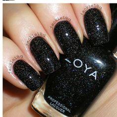 Zoya - black sparking polish