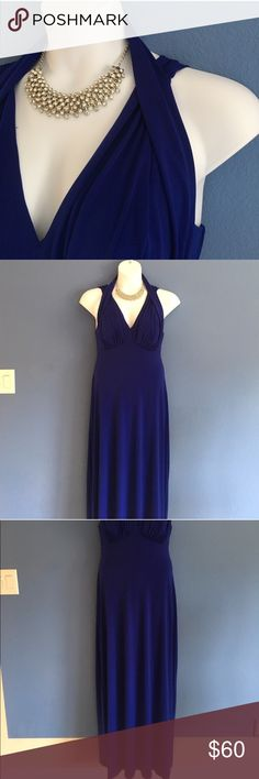 """🆕 Connected Apparel Blue Evening Gown NWT - This beautiful dress it ready to be worn.  Great for your upcoming cruise.  The dress is stretchy for a comfortable fit. Measurements:  Length - 59""""/Waist - 18""""/Bust - 16"""" Connected Apparel Dresses"""