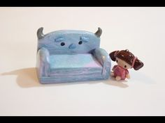Monsters Inc. Sully Couch & Boo polymer clay tutorial