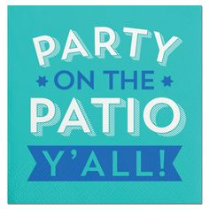 Southern Humor party beverage napkin to use for your pool or patio par. Party Drinks, Wine Drinks, Beverages, Cocktails, Beverage Napkins, Cocktail Napkins, Southern Humor, Southern Belle, Southern Living