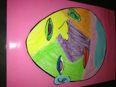 In our Kindergarten class we were about nursery rhymes.  I began thinking of what would happen if Pablo Picasso helped the King's Men put Humpty Dumpty together again.  We did a mini lesson on Picasso and then did an art lesson.  This was the result.  Both teachers and students loved it.
