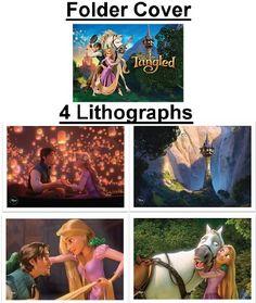 Disney's Tangled Lithograph set