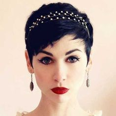 10.Wedding Hairstyles for Pixie Cuts