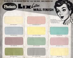 Phelans Paint 1950's for the Mid Century home... picking paint colors..