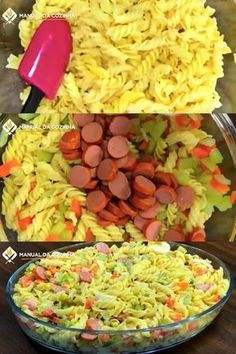 SALADA DE MACARRÃO – ALMOÇO RÁPIDO PARA O FINAL DE SEMANA Pasta Salad, Cobb Salad, Portuguese Recipes, Portuguese Food, Macaroni And Cheese, Cabbage, Food And Drink, Vegetables, Cooking