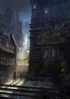 Night City, Jordan Grimmer on ArtStation at https://www.artstation.com/artwork/night-city