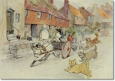 Beatrix Potter - Little Tom Tinkers Dog Painting