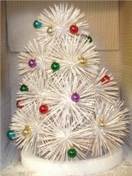 Holiday How To: Make a Toothpick Christmas Tree - In 1962, my 7th grade class made one of these. I used it for years..just resprayed it.