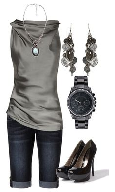 """""""Untitled #48"""" by dori-tyson ❤ liked on Polyvore featuring Jane Norman, Donna Karan and AllSaints"""
