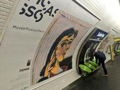 Picasso è arrivato nella metropolitana di Parigi. www.socialwebart.it
