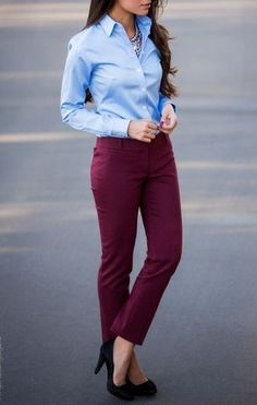 Dressing at the Office has never been that easy. Instead of classic jackets and trousers we've got a thousand cute blazers, skinny pants, chic shirts and blouses to create modern business casual look with heels or even without one. Learn how to not looking boring dressing at the office with following simple outfit ideas. #Blazers