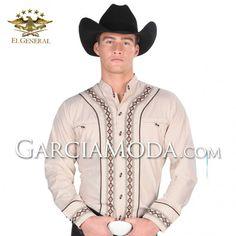Camisas Charras El General Western Wear 33869GM En Color Arena  Decoracion classica Western