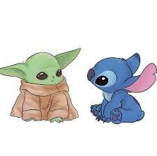 Baby Yoda And Stitch 100 Cute In 2021 Cute Images Pikachu Cute