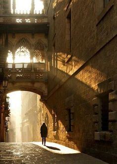 Barcelona, Spain. In the Gothic Quarter.....