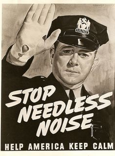 Chicago Police and Noise Pollution Poster fFar to Late