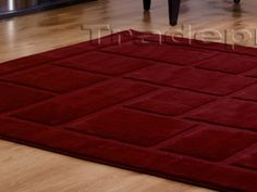 LARGE-160X230-DARK-RED-BURGUNDY-BORDER-PLAIN-THICK-NON-SHED-CLEARANCE-SALE-RUG