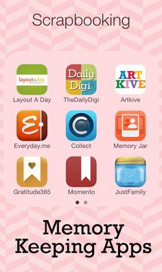 Memory Keeping Helper Apps for digital scrapbookers Scrapbooking Layouts, Scrapbook Cards, Digital Scrapbooking, Mini Albums, Smash Book, Good To Know, Making Ideas, Just In Case, Helpful Hints