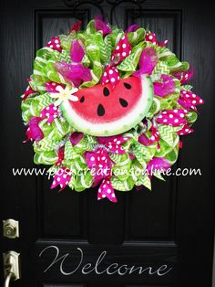 Spring Mesh Wreath