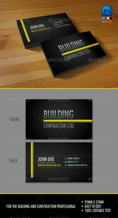 Handyman business card samples free business cards card templates professional construction workers business card reheart Image collections
