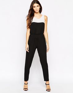 Love Contrast Jumpsuit With Narrow Leg