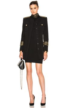 PIERRE BALMAIN Military Midi Coat. #pierrebalmain #cloth #