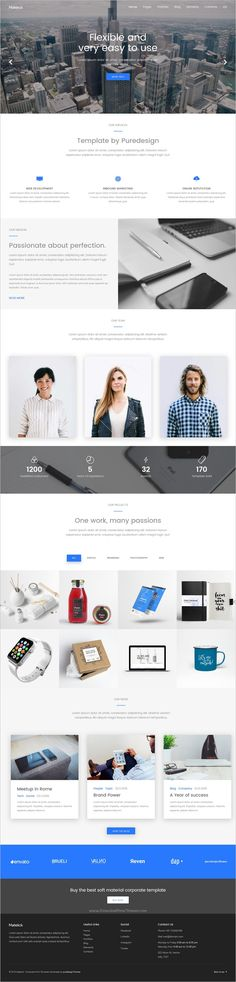 Matelick is a wonderful #bootstrap #HTML template for #corporate, business, #company or agency website download now➩ https://themeforest.net/item/matelick-soft-material-corporate-html-template/18709464?ref=Datasata