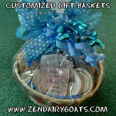 Custom gift baskets for any occasion!   #ZenDairyGoats #EricRovegno #GiftBaskets #NaturalProducts #MarleneStevens  Zen Dairy Goats in Avondale, CO