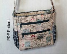Johanna Crossbody Bag. PDF Sewing Pattern. Crossbody Bag. Zipper Bag. PDF Bag Pattern. Handbag. Patterns and Tutorials.