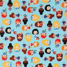 blue Robert Kaufman fabric school girl Back to School 3