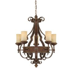 Buy the Quoizel Rustic Bronze Direct. Shop for the Quoizel Rustic Bronze Laredo 5 Light Wide Pillar Candle Chandelier with Amber Scavo Glass and save. Candle Chandelier, 5 Light Chandelier, Rustic Chandelier, Rustic Lighting, Wrought Iron Chandeliers, Chandelier Ideas, Lighting Ideas, Lighting Design, Ceiling Light Fixtures
