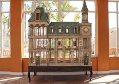 French chateau birdhouse.
