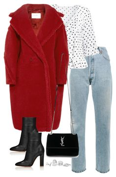 """""""Untitled #4692"""" by theeuropeancloset ❤ liked on Polyvore featuring RE/DONE, MaxMara, Yves Saint Laurent and GUESS"""