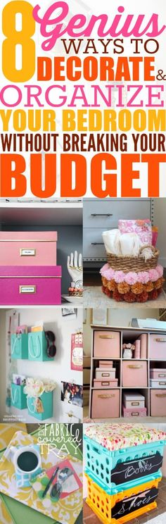 I'm so happy I found these ideas! My bedroom is organized and super cute! You have to read this post!