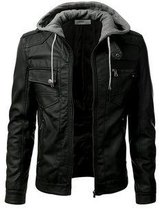 IDARBI Urban Knight Jacket with Detachable Hood                              …