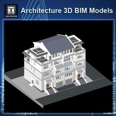 Download this Architecture BIM 3D Models(*.rvt file format,for Revit).BIM 3D models for Architects, Designers and Specifiers  Building Information Modeling (BIM) is an intelligent 3D model-based process that equips architecture, engineering, and construction professionals with the insight and tools to more efficiently plan, design, construct, and manage buildings and infrastructure. Building Information Modeling (BIM) processes have helped countless firms in diverse industries operate more…