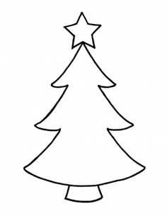 Green Christmas Tree Outline Clipart Kid 1026 On Black