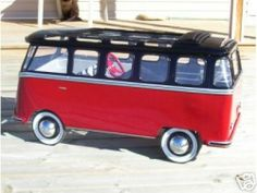 VW Bus pedal car