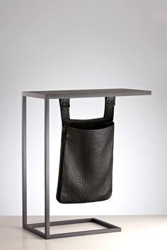 Lumi Side Table with Saddle Bag