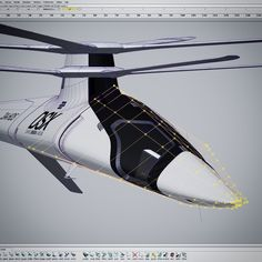 Modifying the nose of the #DSX Mistral concept helicopter. Using @autodesk alias on a machine by @boxxtech #helicopter #danielsimon #cg #3d #conceptdesign #future