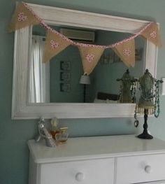 Hessian hearts Hessian Bunting, Hearts, Girls, Furniture, Home Decor, Toddler Girls, Decoration Home, Daughters, Room Decor