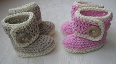 Button-Up Baby Boots Crochet Pattern