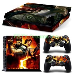 EBTY-Dreams Inc. - Sony Playstation 4 (PS4) - Resident Evil 5 Chris Redfield Sheva Vinyl Skin Sticker Decal Protector
